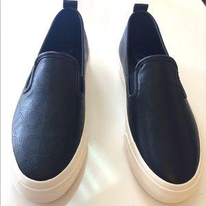 Calvin Klein Black Leather Sneaker
